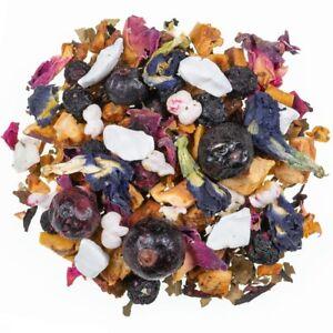 100 Gr.früchtetee Frozen Blueberry Mild With Joghurtstücke, Black Red Currant
