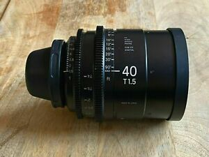 Sigma 40mm T1.5 Cine Prime Lens PL Mount for ARRI Red Sony
