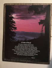 Psalm 23 Lord Shephard religious motivational wall decor Inspirational wood Sign