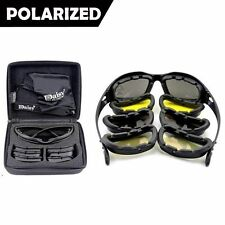 Army Sunglasses 4 Lens Kit Military Goggles Polarized Daisy War Game C5 X7 Men