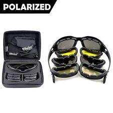 Army Sunglasses 4 Lens Kit Military Goggles Polarized Daisy War Game C5 X7 Men