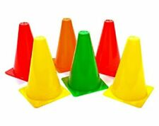 Plastic Pack of 6 Marker Cones (6 inch) for Soccer Cricket Track and Field Sport