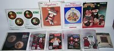 LOT OF 11 CHRISTMAS Santa Snowmen Embroidery Needlepoint Crewel Stitch Kits NEW