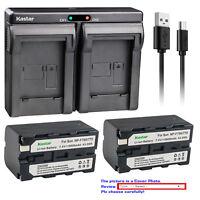 Kastar Battery Dual USB Charger for Sony NP-F750 Sony MVC-FD73 MVC-FD75 MVC-FD81