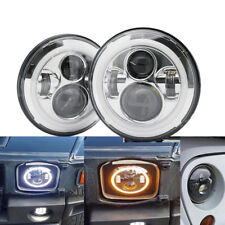 chome2 new 7 inch LED headlight project For Toyota Landcruiser for jeep wrangler