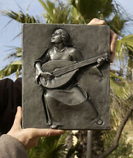Music, playing mandolin, cast iron plaque 265x225 mm