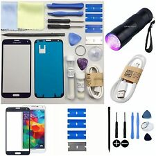 SAMSUNG GALAXY S5 Replacement Screen Front Glass lens Repair Kit BLUE UV TORCH