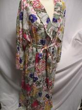 Vintage Robe Floral Loungewear Mary McFadden Size S 1970s Pleated Neiman Marcus