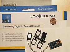 ESU 58419 H0 LokSound5 Decoder DCC/MOT/mfx MTC21.+Lautspr.+Wunschsound (54499)