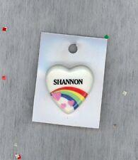 Rainbow & Hearts Fashion Pin Brooch Personalized SHANNON - Stocking Stuffer