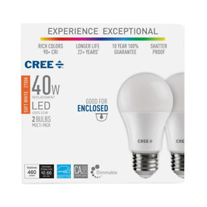 40W Equivalent Soft White (2700K) A19 Dimmable Exceptional Light Quality LED Lig