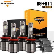 4x AUXBEAM H11 H9 LED Headlight Conversion Kit 140W 16000LM 6500K Hi/Lo Beam