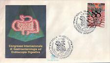 FDC ITALIA PRIMO GIORNO DI EMISSIONE 1988 GASTROENTEROLOGIA DIGESTIVA 7-59