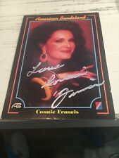 Connie Francis signed American Bandstand card