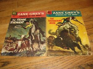 Zane Grey's Stories of the West 31 & 32 Dell Lot of 2 Silver Age Western Comics