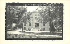 c1950 RPPC Postcard; Ness County Court House, Ness City KS Unposted