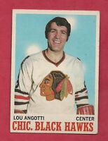 1970-71 TOPPS  # 12 HAWKS LOU ANGOTTI NRMT CARD