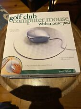 """Mouse Driver"""" Computer Mouse shaped like a Golf Driver Club Head With Mouse Pad"""