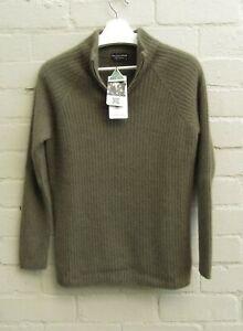 Possum Merino Wool Luxury Half Zip Raglan Sleeve Jumper size S