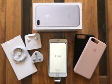 Apple iPhone 7 PLUS WHITE SILVER NUOVO Sbloccato scatola caricatore cuffie & 2 casi