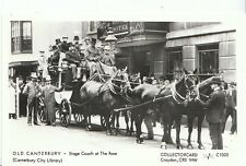 Kent Postcard - Old Canterbury - Stage Coach at The Rose   U559