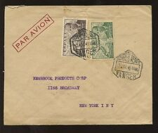 SPAIN TANGIER 1949 AUTOGIRO AIRMAIL SOCIETE ANONYME ENVELOPE to NY
