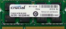Ram memory 4GB (4GBx1) DDR3 PC3-8500 1067Mhz for your Apple Macbook Pro