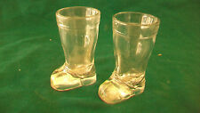 PAIR OF CLEAR GLASS COWBOY BOOTS SHOT GLASS OR TOOTHPICK HOLDER