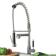 Luxury Dual Sink Kitchen Faucet with Extendable Sprayer - Chrome