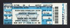 2006 Seattle Seahawks Green Bay Packers 11/27/2006 Alexander 201 Yds Full Ticket