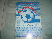 Rangers v FC Zurich Sept 1976 European Cup