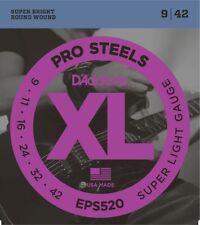 D'Addario Eps520 ProSteels Electric Guitar Strings, Super Light, 9-42