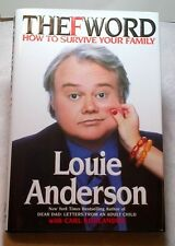 Louie Anderson THE F WORD Emmy award winning actor 2002 Hardcover Book MINT NEW