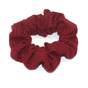 Ladies Hot Soft Cotton Ribbed Scrunchie Hair Ties Simple Solid Hair Accessories