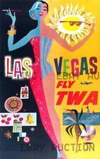 Las Vegas Nevada TWA Travel advertisement  ca 8 x 10 print prent poster
