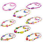 1Set Girl's Wooden Flower Heart Animals Beads Necklace&Bracelet Kid Jewelry Set