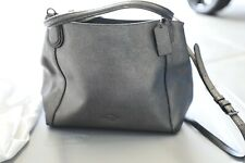 Coach Leather Shoulder Handbag - Gunmetal Metallic