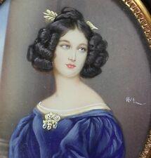 Miniature Portrait Nanette R. Kaula Miniaturmalerei handgemalt Lupenmalerei