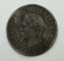 Dated : 1855 - France - 2 Centimes - Deux Centimes Coin - Napoleon III