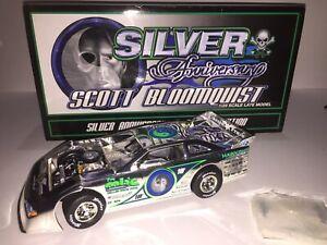 New Scott Bloomquist 1/24 Silver / Chrome Autographed Car & Box #671 Of 2,500