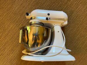 White KitchenAid KSM90WH 300W Ultra Power Stand Mixer