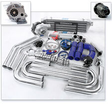 Universal T3/T4 T04E Turbo Charger Kit+ Turbo Bar and Plate Intercooler 2.5 INCH