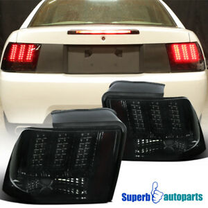 For 1999-2004 Ford Mustang LED Sequential Tail Lights Signal Brake Lamps Smoke
