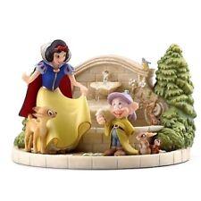 Disney Snow White's Charming Garden Fountain Figure Real Working Fountain! NEW