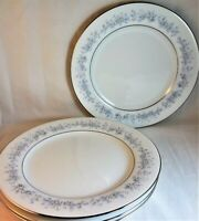 Marywood Noritake Salad Dessert Plates (4) Pattern #2181 White Blue Flowers EUC