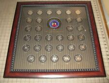 1976-2006 NATIONAL WILD TURKEY FEDERATION MEDALLION COLLECTION in Glass Frame