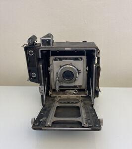 Vintage Graflex Crown Graphic Camera Kodak Ektar 127mm Lens NR Estate Found