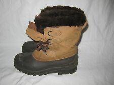 Awesome! Sorel 'Badger' Brown Leather Boots Made In Canada Women's Size 8 M