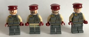 LEGO original PARTS - STAR WARS - 4 REBEL OFFICERS TROOPERS - my design