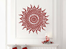 Wall Decal Mandala Vinyl Sticker Decals Yoga Flower Mehndi Namaste Ornament NV63